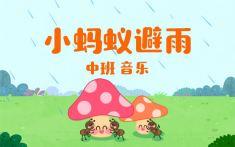 小蚂蚁避雨